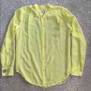 Juicy Couture BRIGHT Yellow Button Down